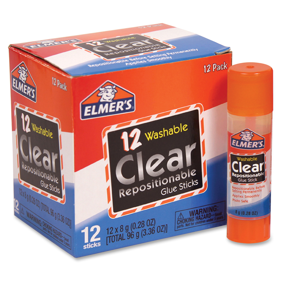 Elmer's Clear Repositionable Glue Sticks; EPI E4064
