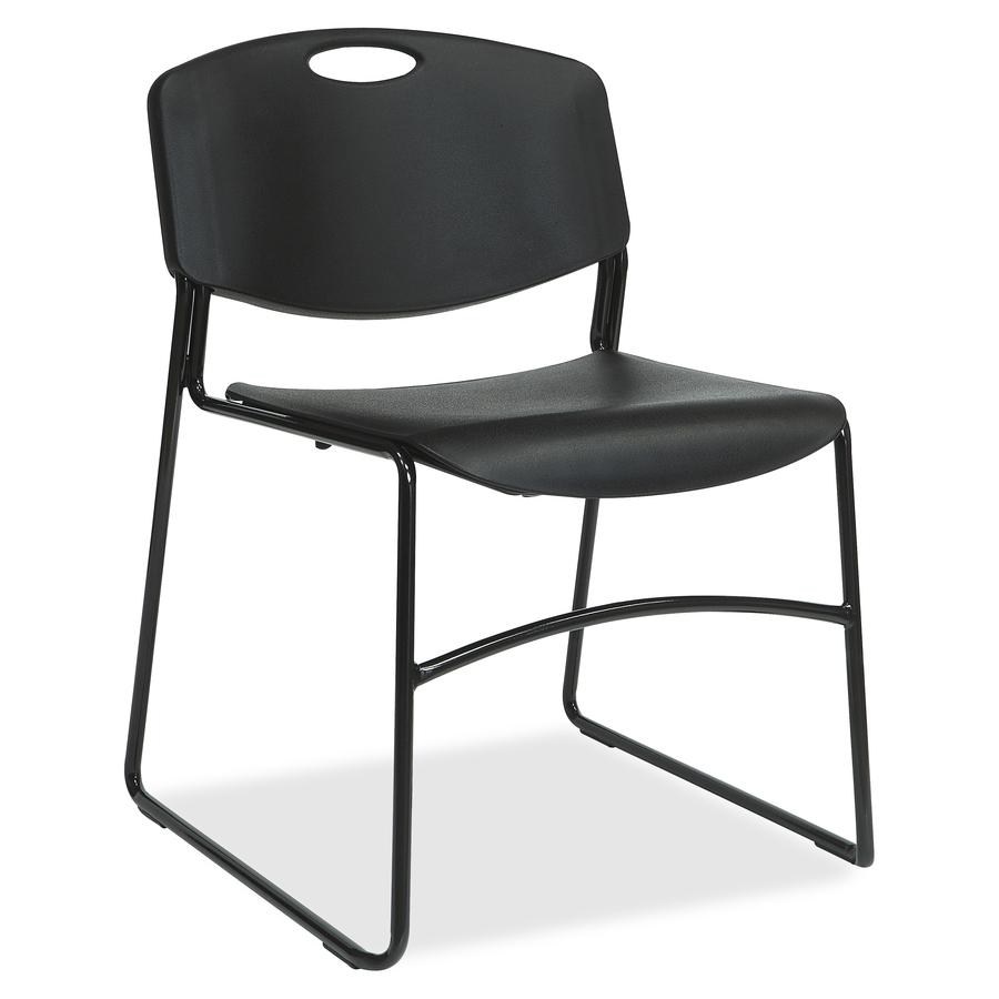 Fabulous Lorell Heavy Duty Bistro Stack Chairs Plastic Seat Plastic Back Steel Frame Black Creativecarmelina Interior Chair Design Creativecarmelinacom