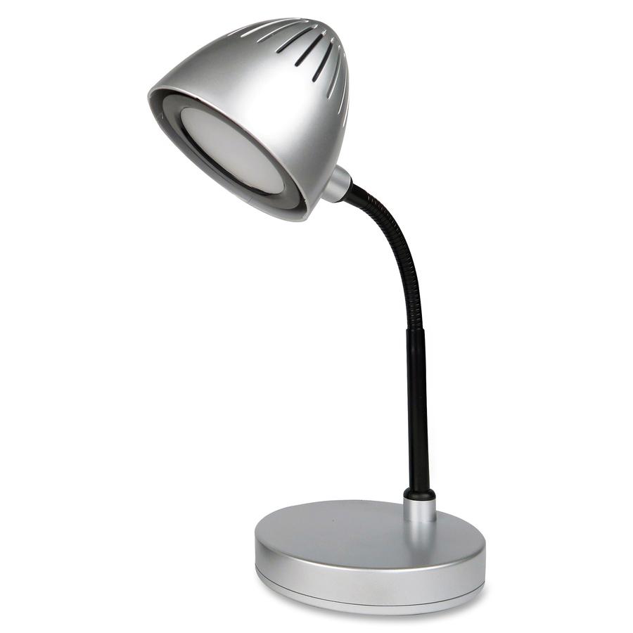 Llr99777 Lorell Silver Shade Led Desk Lamp 200 Lumens Silver Desk Mountable For Desk Table Office Supply Hut