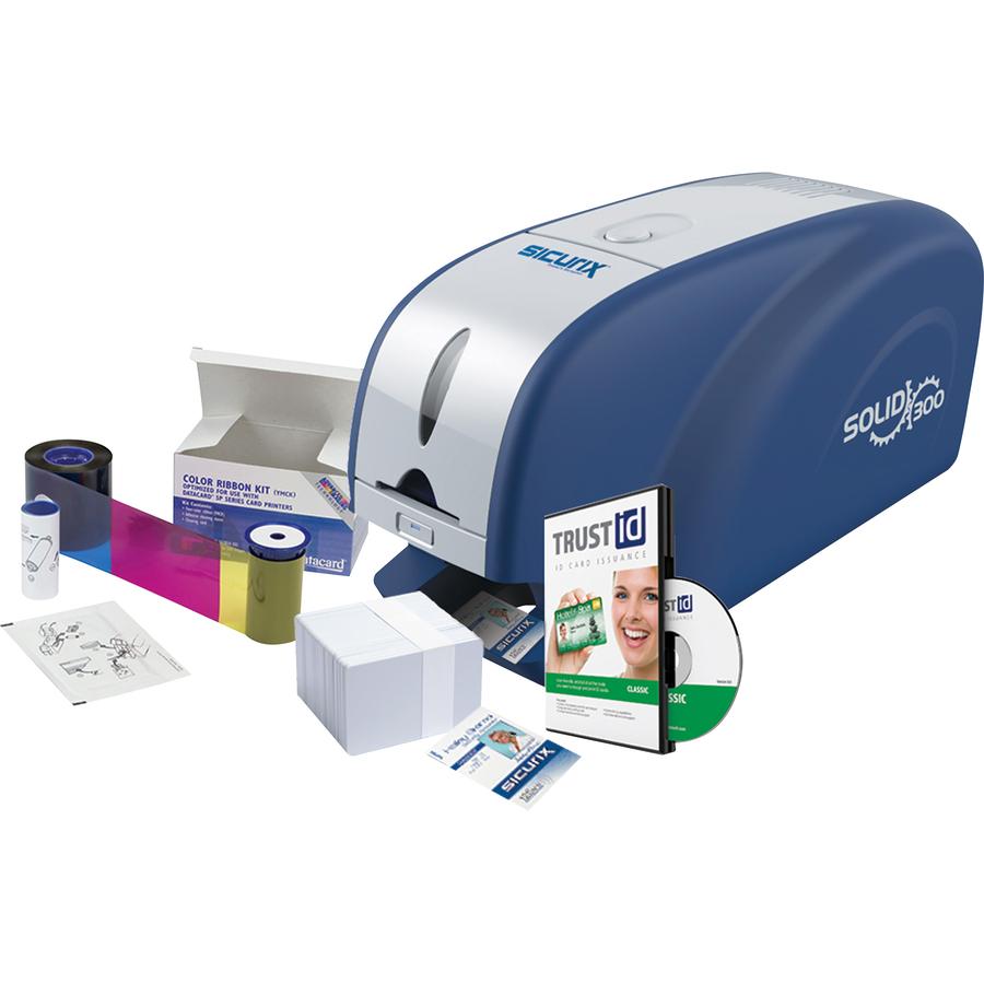 Baumgartens Sicurix Single Sided Dye Sublimation/thermal Transfer Printer -  Color - Desktop - Card Print - 300 Dpi - Card