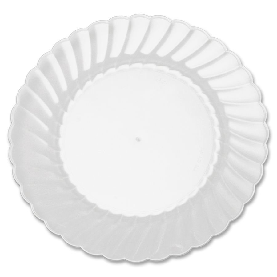 Classicware WNA Comet Heavyweight Plastic Clear Plates 6  Diameter Plate - Polystyrene Plastic - Disposable - Clear - 12 Piece(s) / Pack  sc 1 st  Office supply hut & WNARSCW61512 - Classicware WNA Comet Heavyweight Plastic Clear ...