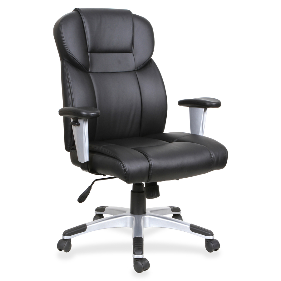 Outstanding Lorell High Back Leather Executive Chair Bonded Leather Seat Bonded Leather Back Black 28 9 Width X 28 5 Depth X 46 Height Machost Co Dining Chair Design Ideas Machostcouk