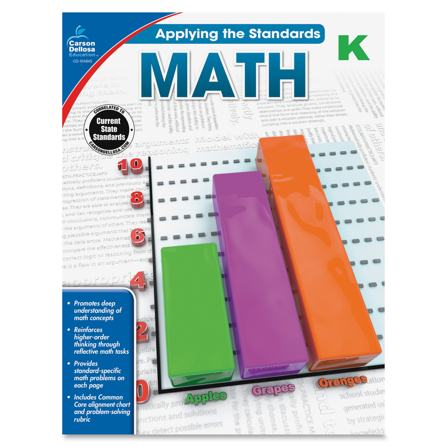Carson Dellosa Grade K Applying the Standards Math Workbk  : 1036604890 from www.bulkofficesupply.com size 3000 x 3000 jpeg 2487kB