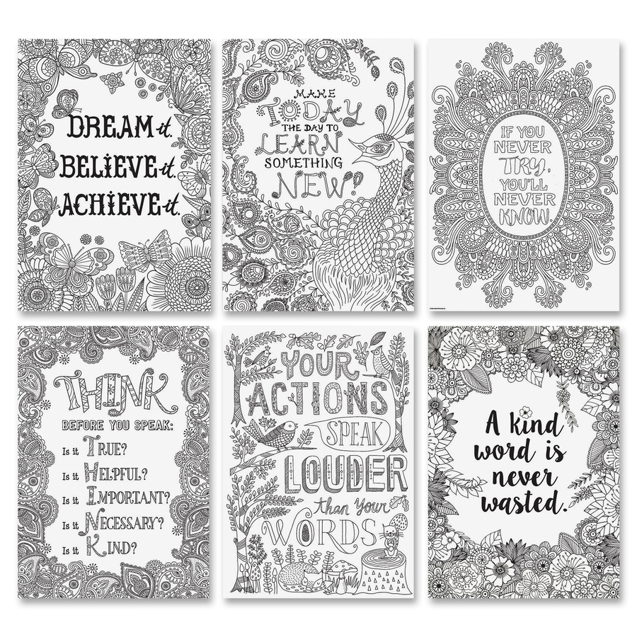 Creative Teaching Press Color-Me Inspire U Posters - 13 4