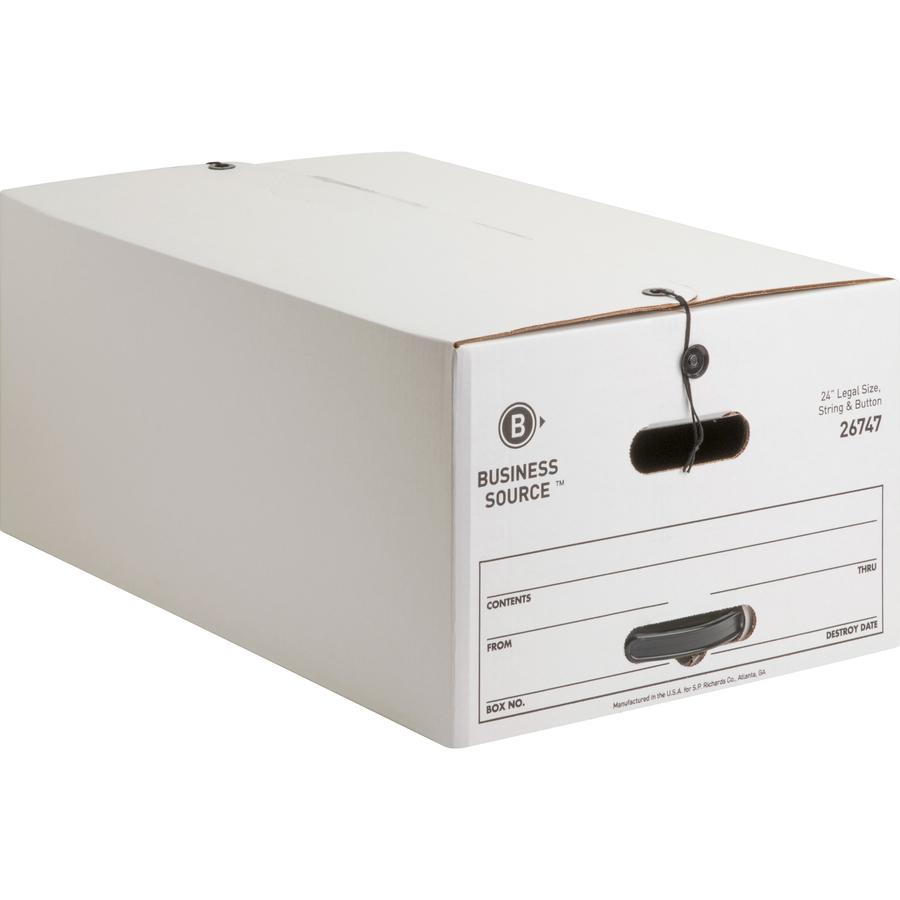 Business Source Medium Duty Legal Sz Storage Box Internal Dimensions 15 Width X 24 Depth 10 Height External 3 1