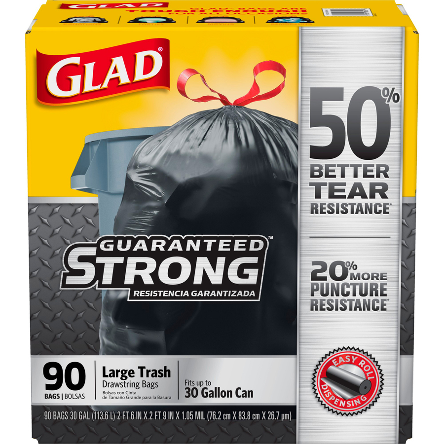 Glad Drawstring Black Trash Bags Clo78952 Original