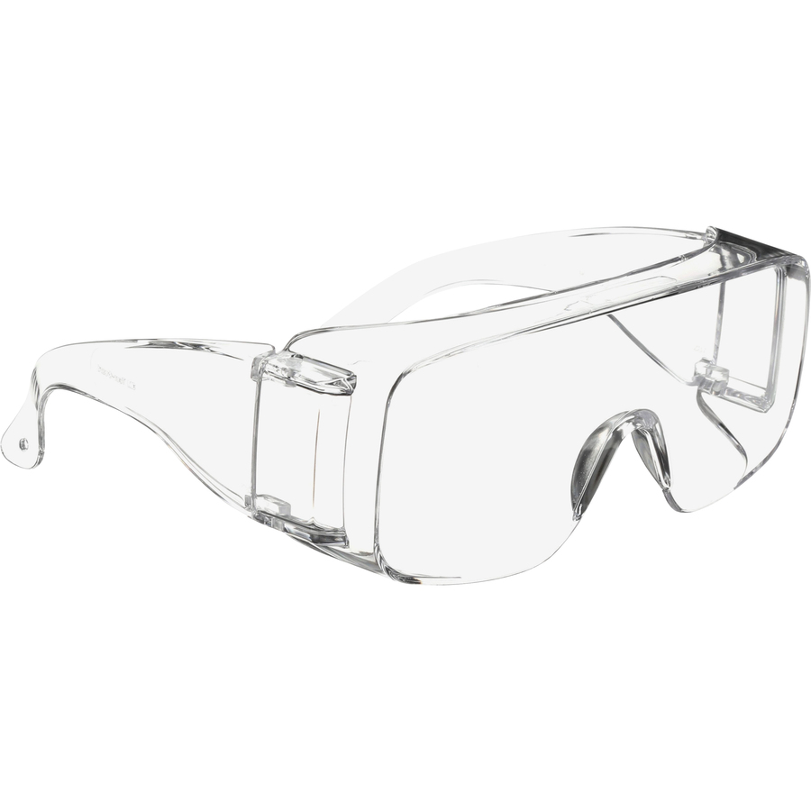3M Tour-Guard V Protective Eyewear - Medium Size - Ultraviolet Protection - Polycarbonate Lens - Clear, Clear - 100 / Box
