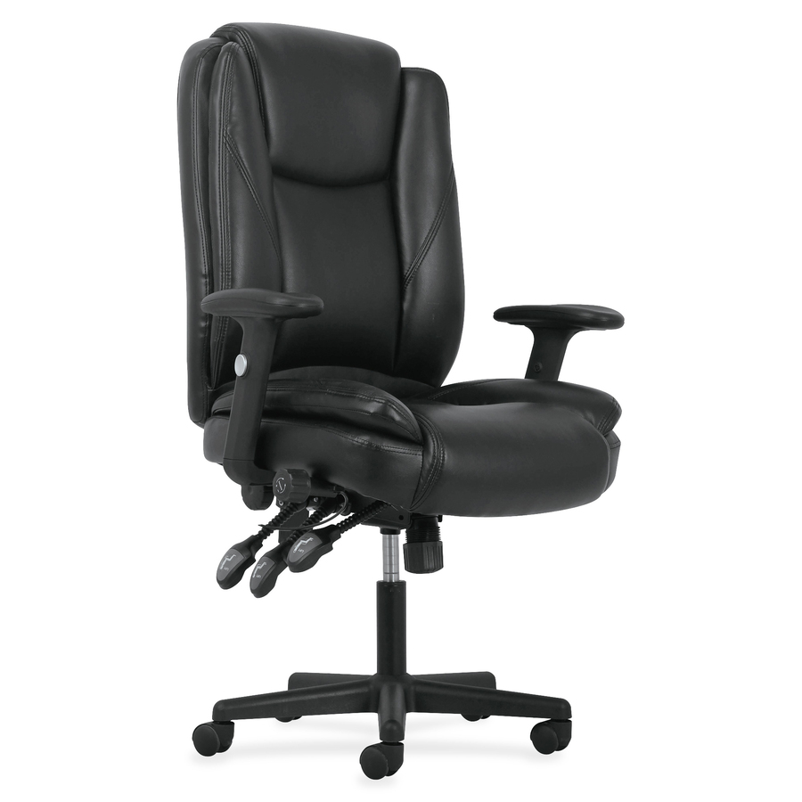 basyx by hon leather high back task chair supplygeeks com