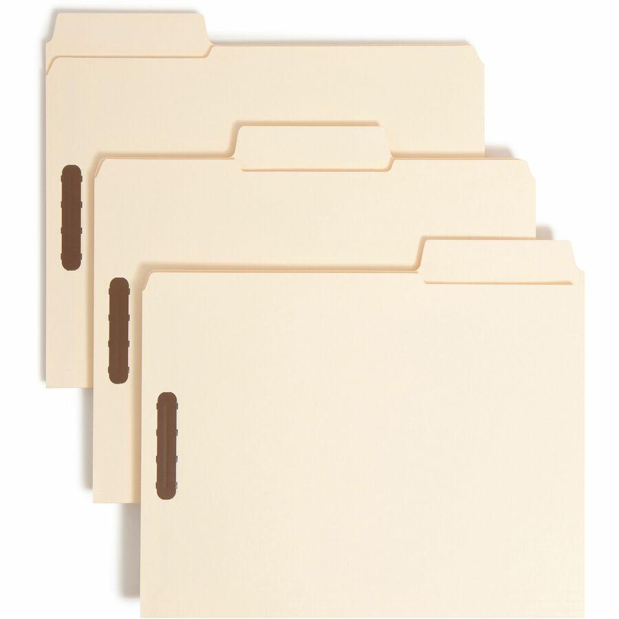 Heavyweight Folders 14 Point Manila Sold as 50 Each 50//Box Legal Two Fasteners End Tab