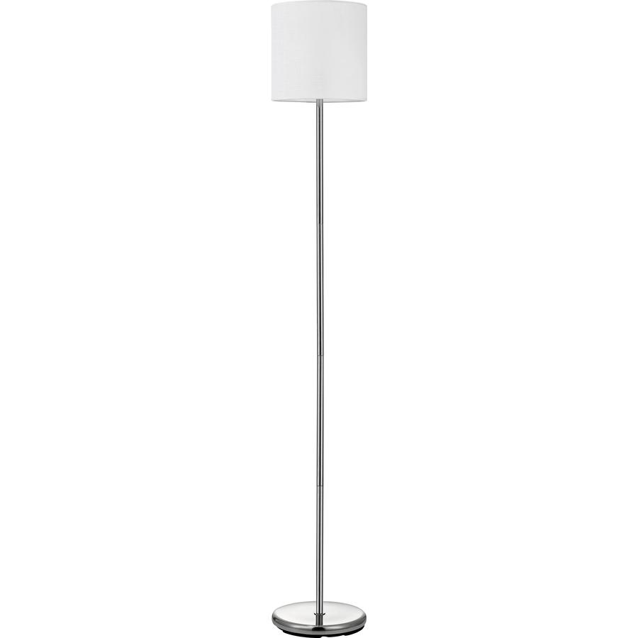 Lorell linen shade 10 watt led floor lamp yuletide for Led floor lamps for office