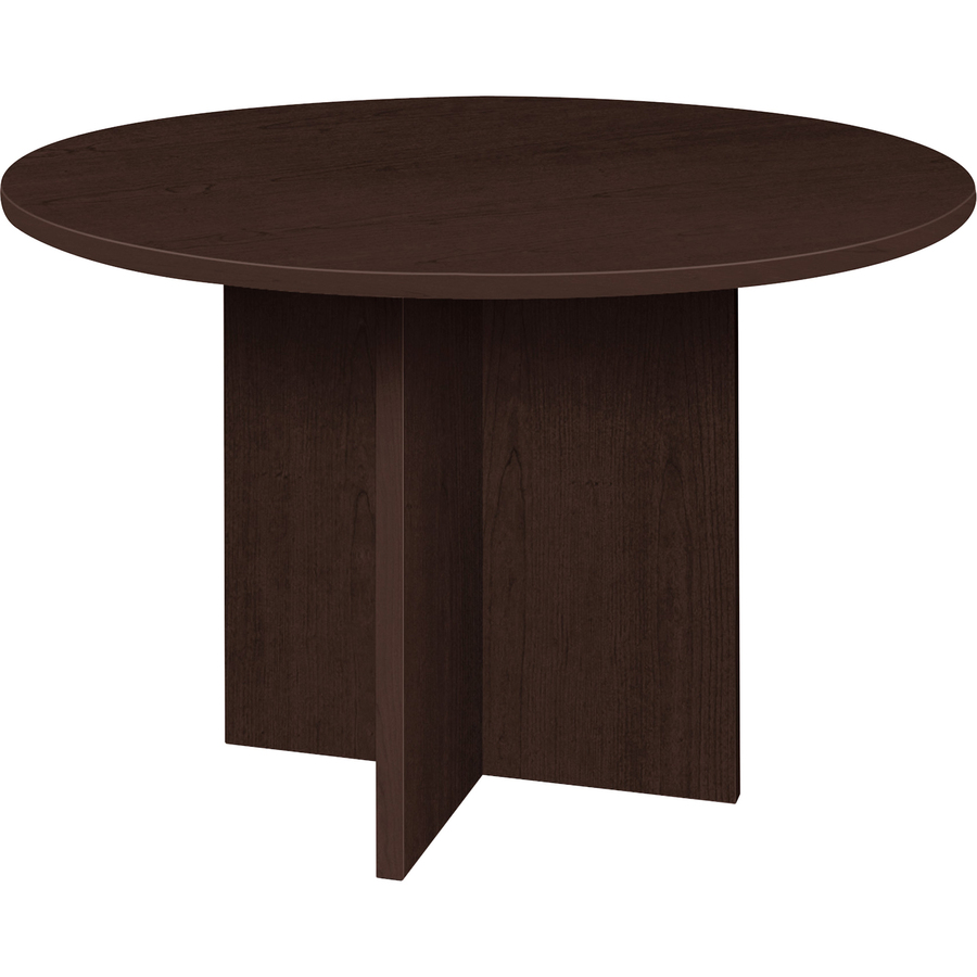 Particleboard Finish Espresso Laminate Surface Lorell Prominence Round Conference Table Llrpt42res Original