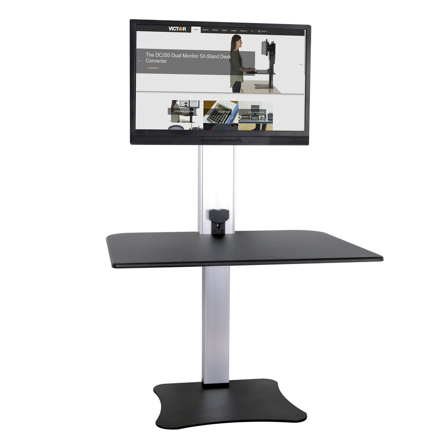 Victor High Rise Electric Single Monitor Standing Desk