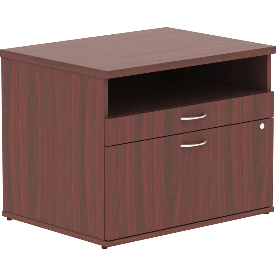 Lorell Relevance Series Mahogany Laminate Office Furniture - 29.5\