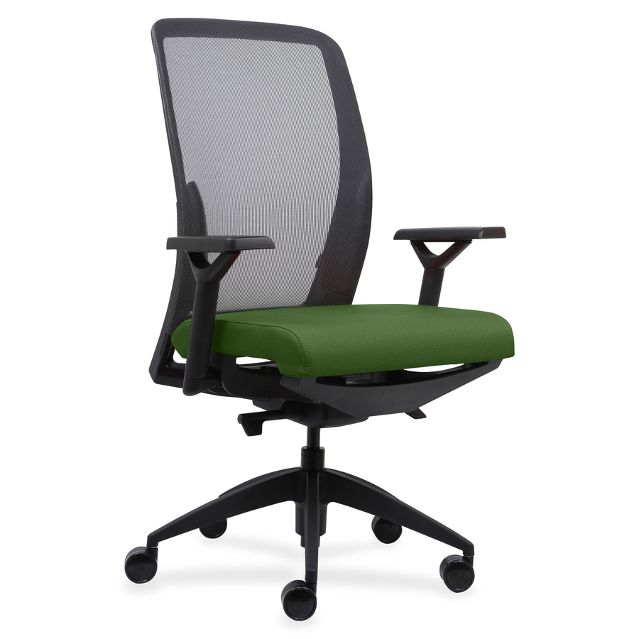 Surprising Lorell Executive Mesh Back Fabric Seat Task Chair Crepe Fabric Green Seat 26 5 Width X 25 Depth X 47 Height Theyellowbook Wood Chair Design Ideas Theyellowbookinfo