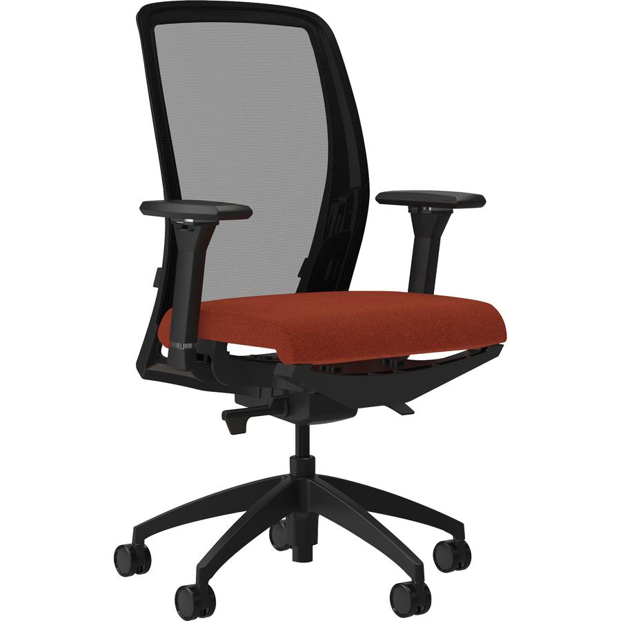 Awe Inspiring Lorell Executive Mesh Back Fabric Seat Task Chair Crepe Fabric Orange Seat 26 5 Width X 25 Depth X 47 Height Theyellowbook Wood Chair Design Ideas Theyellowbookinfo