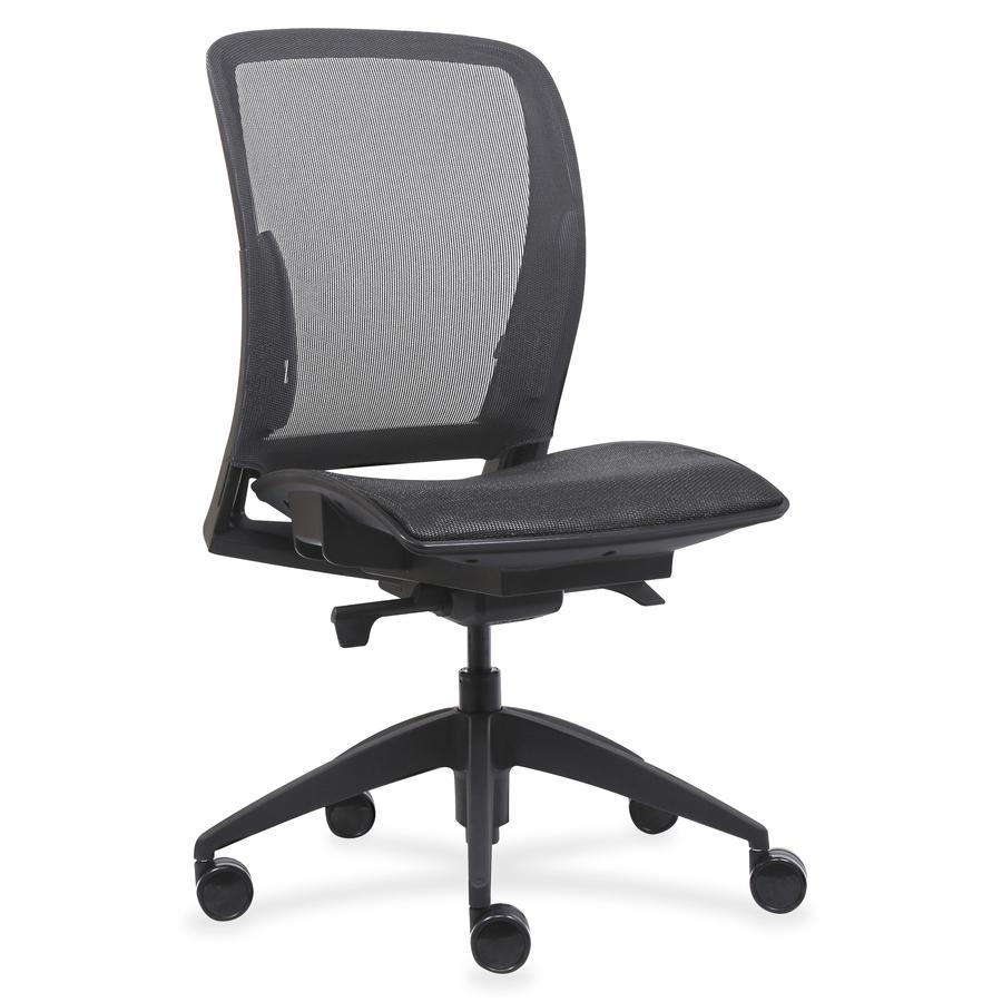 Sensational Lorell Mid Back Chair With Mesh Seat Back Black 26 5 Width X 25 Depth X 45 Height Theyellowbook Wood Chair Design Ideas Theyellowbookinfo