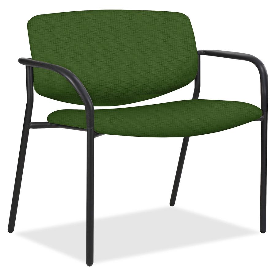 Great Lorell Bariatric Guest Chairs With Fabric Seat U0026 Back Steel Fern, Crepe  Fabric Seat   Steel Fern Back   Tubular Steel Powder Coated, ...
