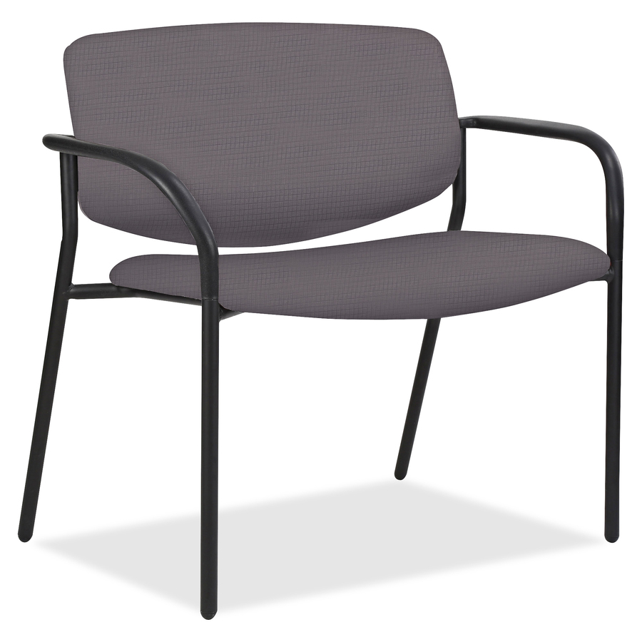 Lorell Bariatric Guest Chairs With Vinyl Seat U0026 Back Foam Ash, Vinyl Seat    Foam Ash, Vinyl Back   Tubular Steel Powder Coated, Black Frame    Four Legged ...