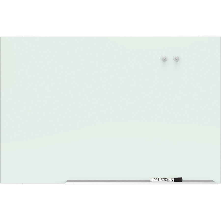 quartet element magnetic glass dry-erase board - 85 u0026quot   7 1 ft  width x 48 u0026quot   4 ft  height