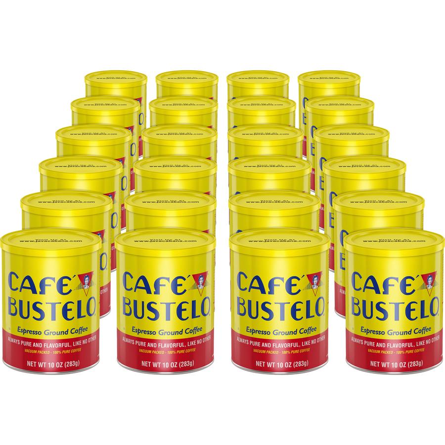 J m  Smucker Company Cafe Bustelo Espresso Blend Coffee - Espresso -  Dark/bold - 10 Oz Per Can - 24 / Carton