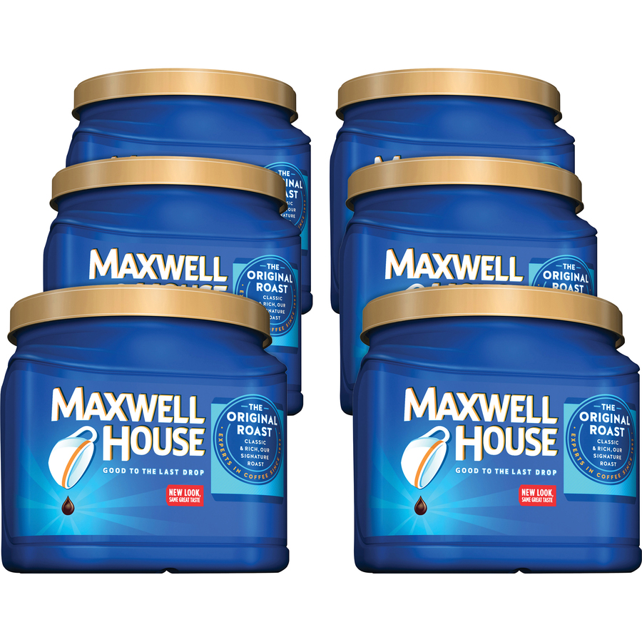 Maxwell House Original Ground Coffee Ground Regular Arabica Medium 306 Oz 6 Carton