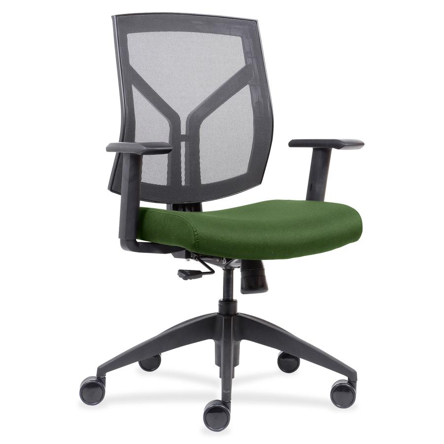 Brilliant Lorell Mid Back Chairs Wth Mesh Back Fabric Seat Fabric Green Foam Seat Black Frame 26 5 Width X 25 Depth X 45 Height Theyellowbook Wood Chair Design Ideas Theyellowbookinfo