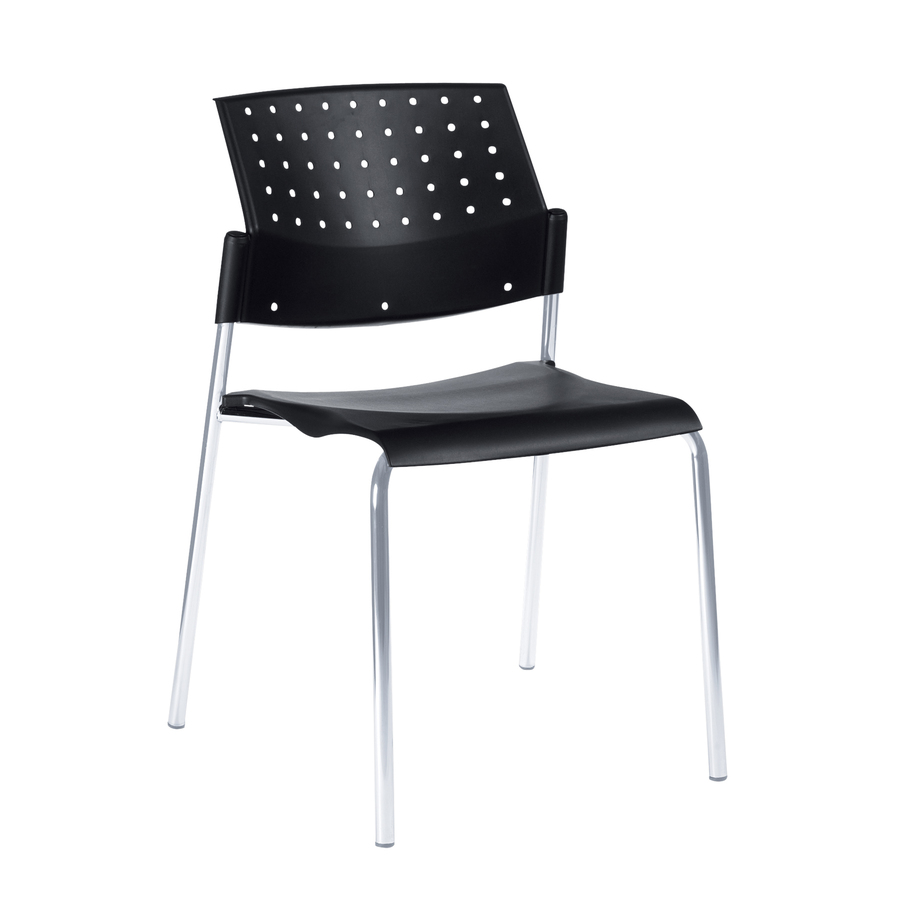 Global Sonic 6508 Stacking Chair Glb6508 Blk