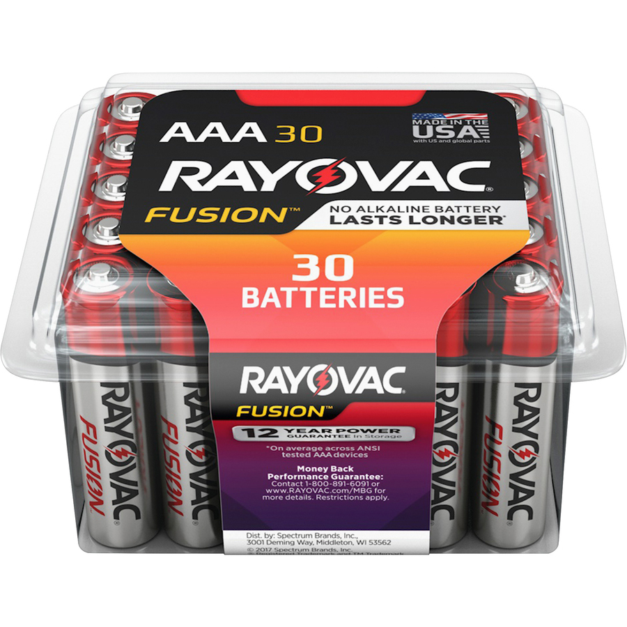 Rayovac Fusion Alkaline AAA Batteries - For Multipurpose