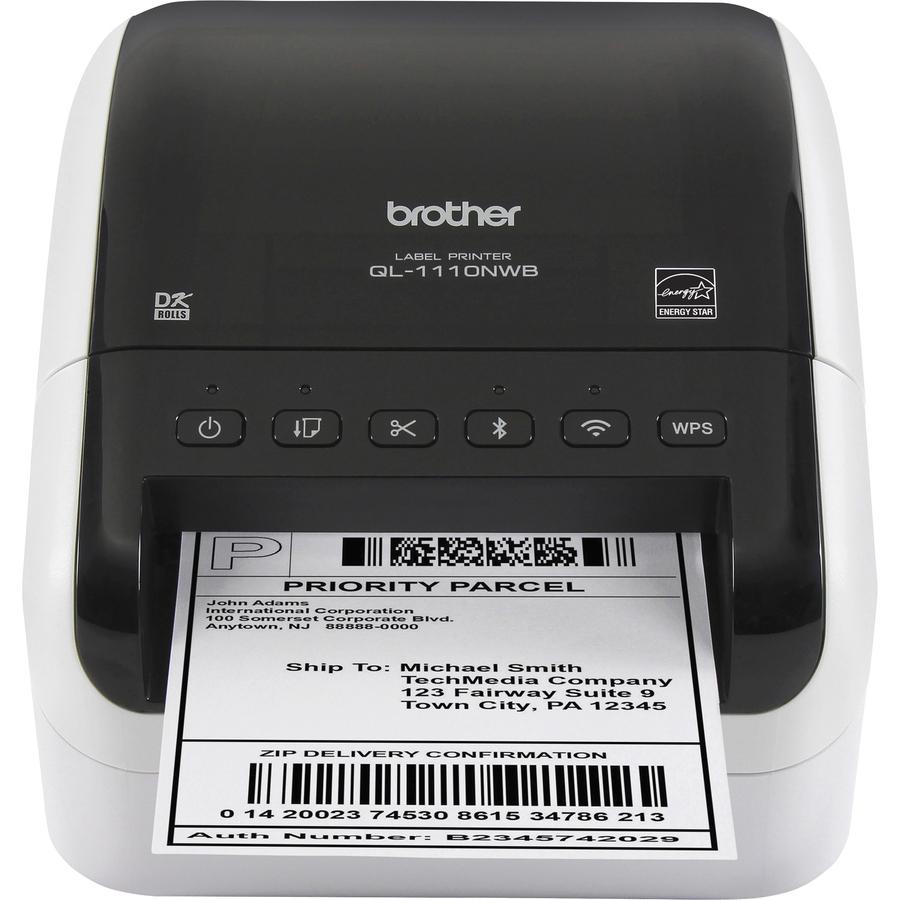 Brother QL-1110NWB Direct Thermal Printer - Monochrome - Desktop - Label  Print - 118 11