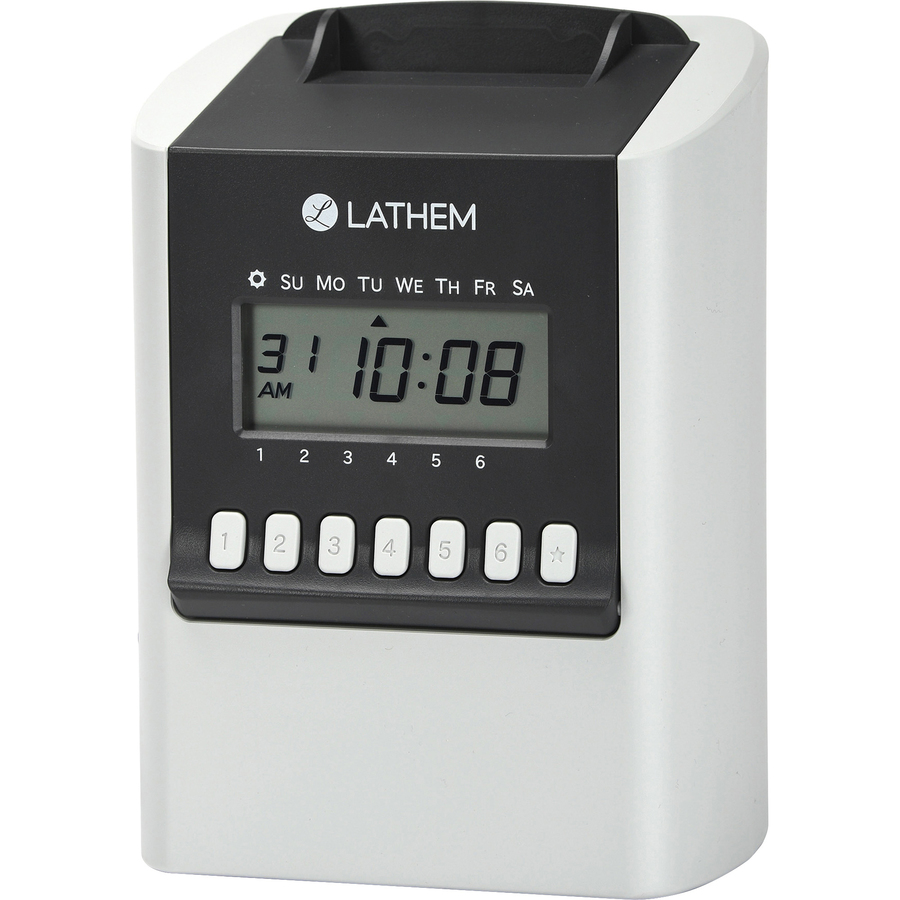 lth700e lathem 700e calculating electronic time clock office