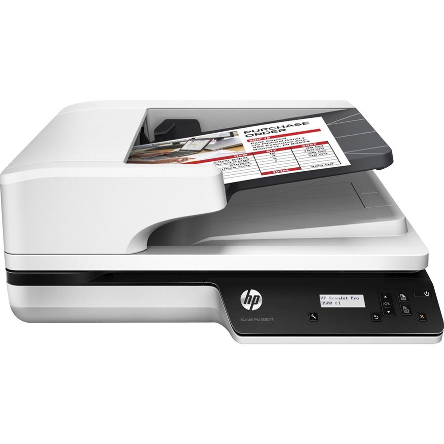 Hp Scanjet Pro 3500 F1 Flatbed Scanner 1200 Dpi Optical 48 Bit Color 25 Ppm Mono 25 Ppm Color Duplex Scanning Usb Servmart