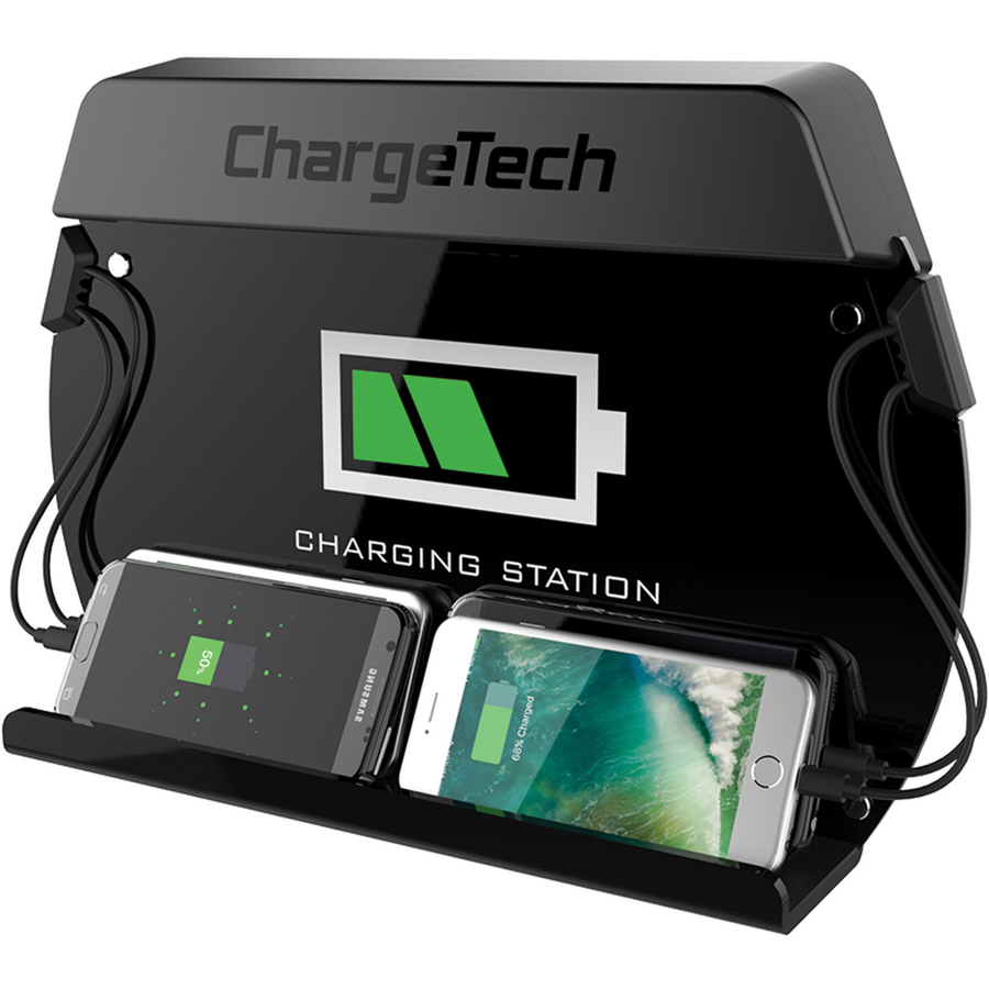 36d2be393f0 Chargetech Enterprises Llc Chargetech Mini Wall Mount Charging Station -  Wired - Tablet, Mobile Phone, Iphone 5, Iphone 4 - Charging Capability - ...