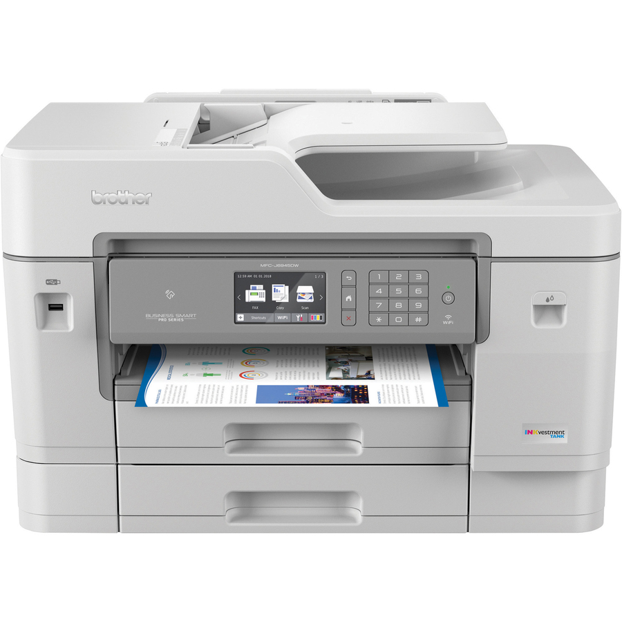 Brother Industries, Ltd Brother MFC-J6945DW Inkvestment Tank Color Inkjet  All-in-one Printer With Wireless, Duplex Printing, Nfc, 11 X 17 Scan Glass
