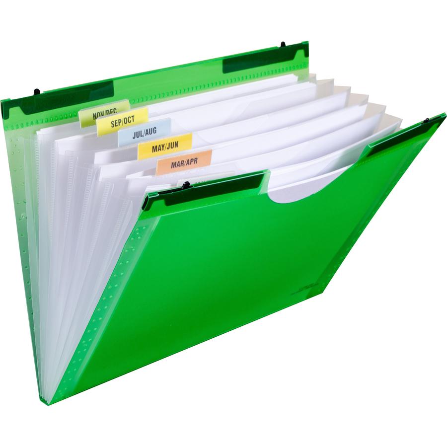 C-Line Hanging Tabs 7-pocket Expanding File - Letter - 8 1/2