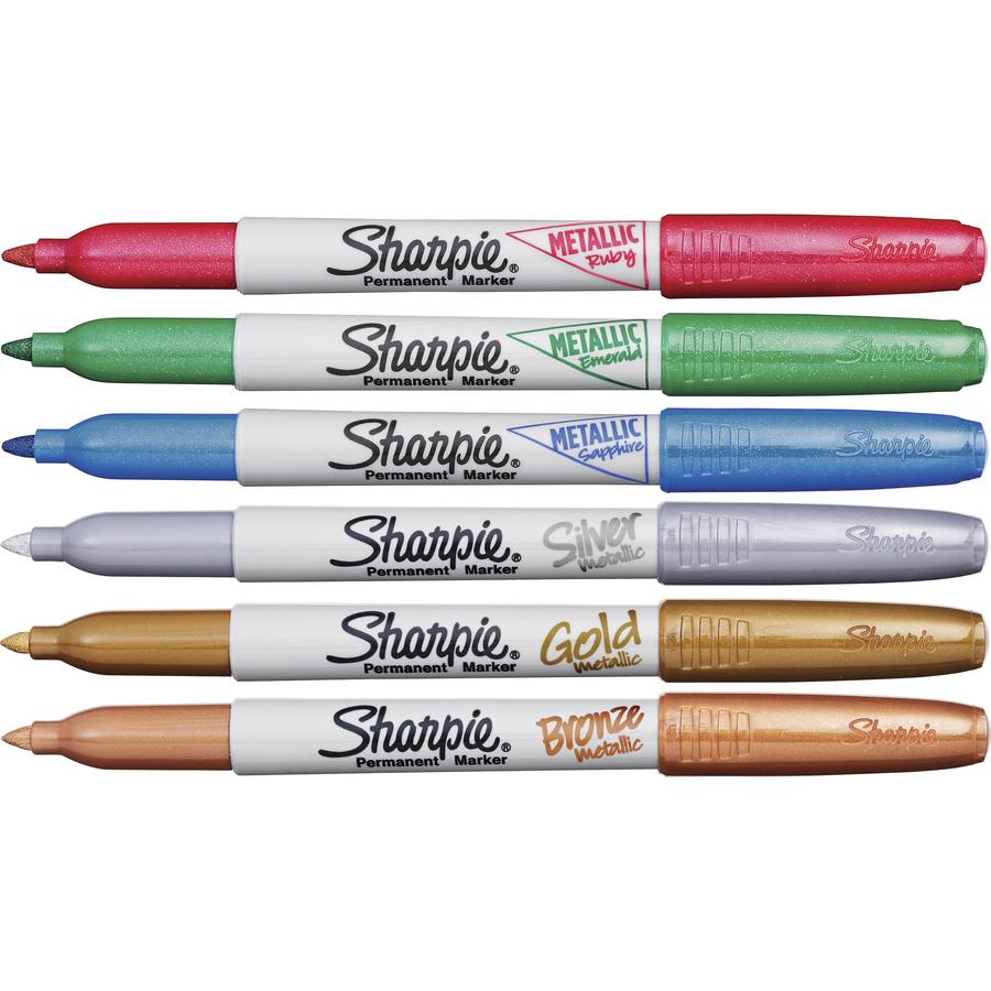 Metallic Gold Sharpie Permanent Markers 4 Pack Brand New