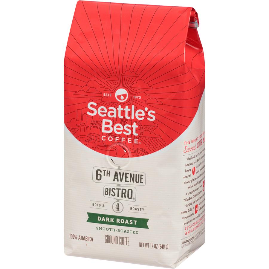Seattles Best Coffee, Llc Seattles Best Coffee 6TH Avenue Bistro  Medium-dark Rich Whole Bean Coffee - Level 4 - Signature Blend -  Medium/dark - 12 Oz