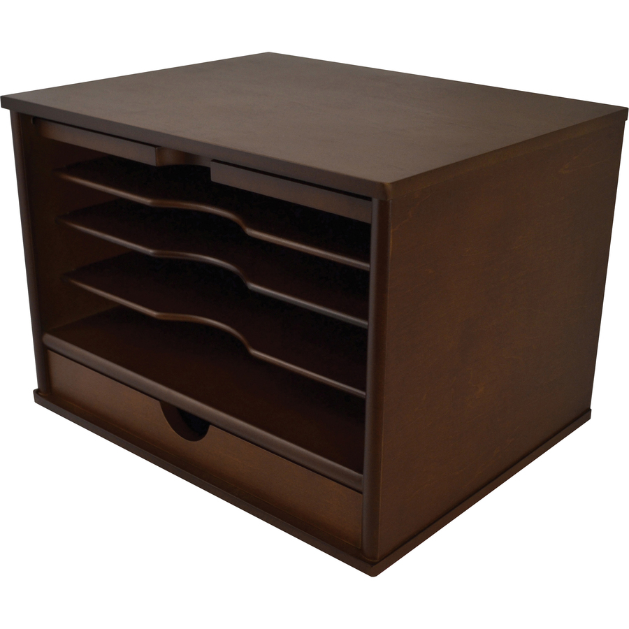 "Victor Heritage Wood Desktop Organizer - 488 Compartment(s) - 488 Drawer(s) -  488.488"" Height x 48848.48"" Width x 4880.48"" Depth - Desktop - Natural - Wood - 488"
