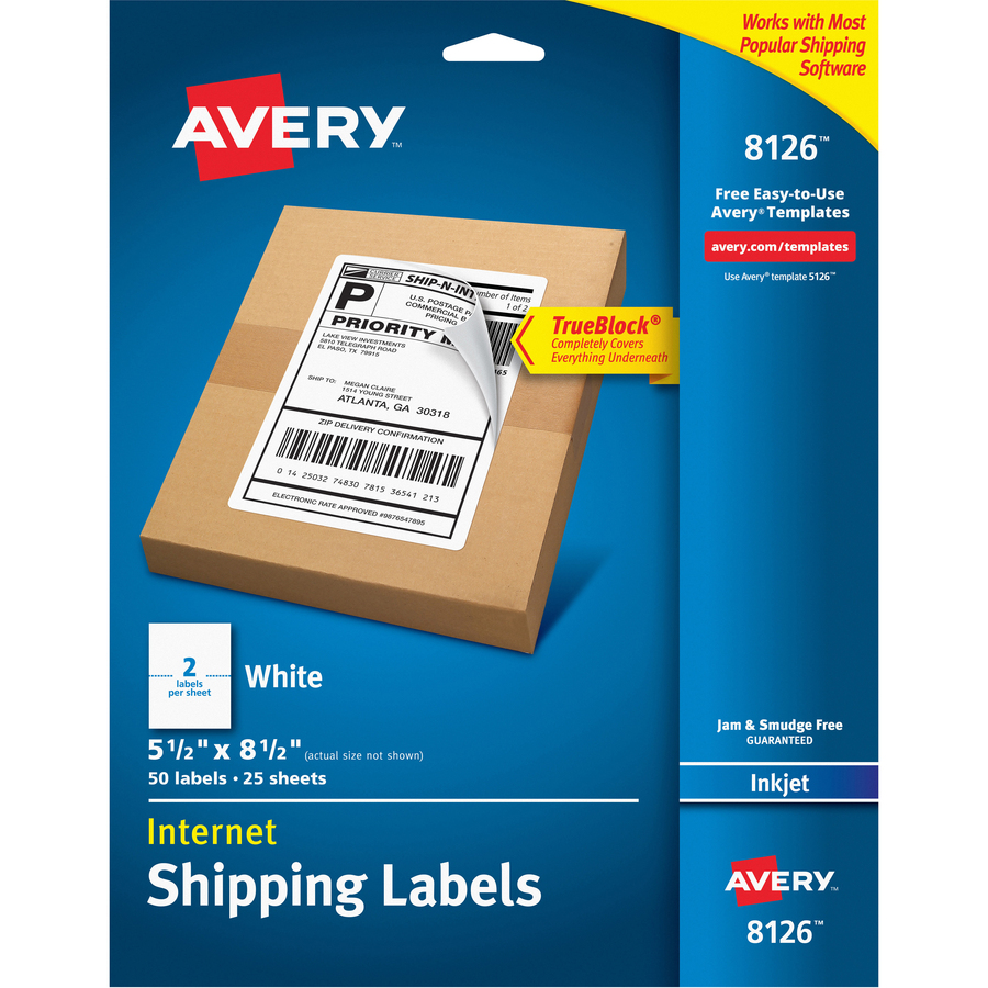 avery shipping labels with trueblock technology thomas business