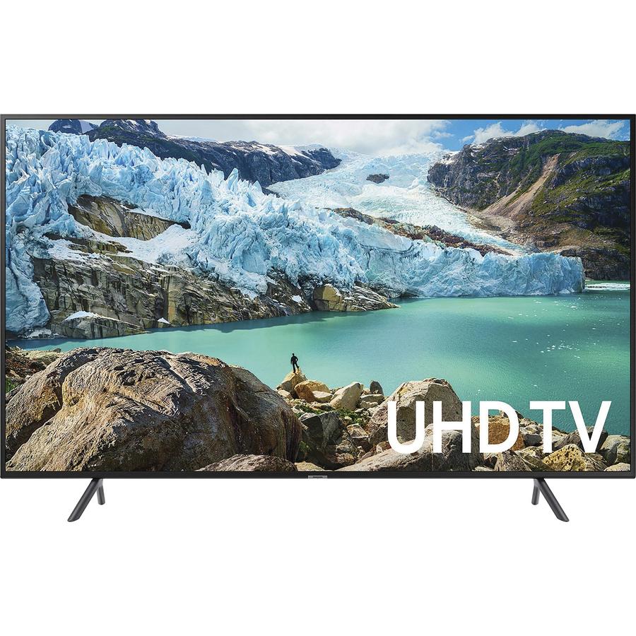 Image for Samsung RU7100 UN55RU7100F 54.6' Smart LED-LCD TV - 4K UHDTV - Charcoal Black - Edge LED Backlight - Alexa, Google Assistant Supported - Tizen - Dolby, Dolby Digital