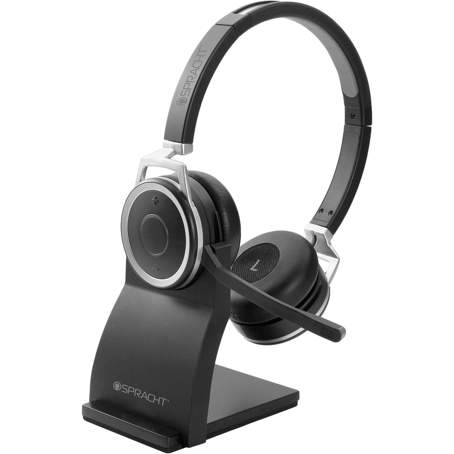 Sptzumbtp410 Spracht Prestige Combo Headset Usb Wired Wireless Bluetooth 33 Ft Over The Head Noise Cancelling Microphone Black Office Supply Hut