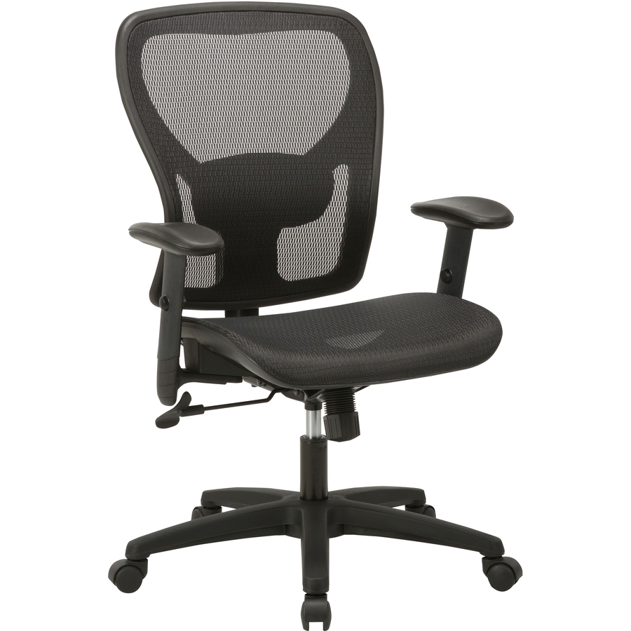 Llr83293 Lorell Soho Mesh Mid Back Task Chair Mesh Seat Mesh Back 5 Star Base Black 27 8 Width X 27 Depth X 42 9 Height 1 Each Office Supply Hut