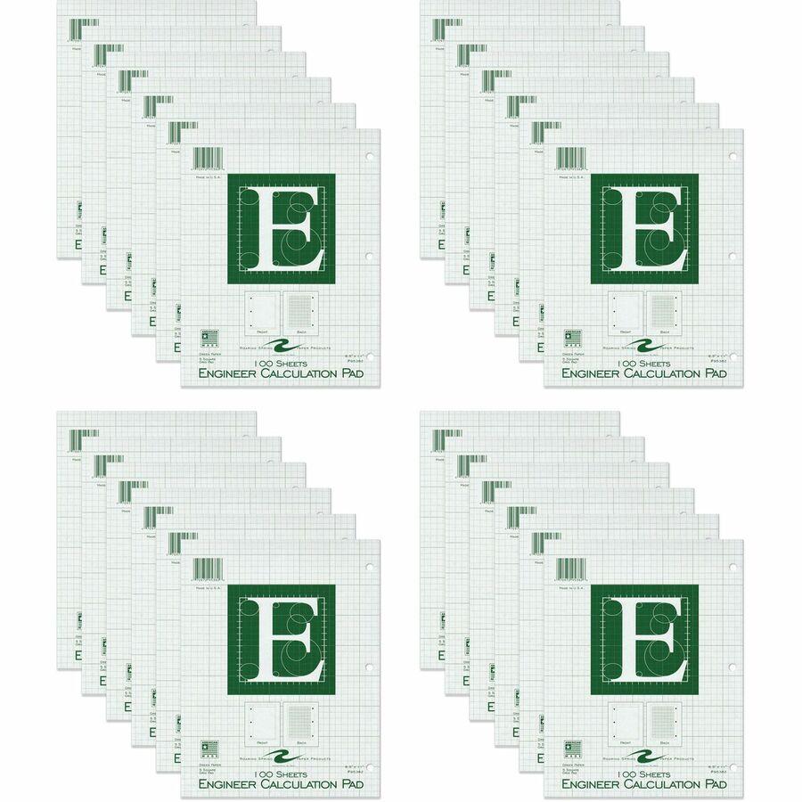 200 sheets Engineer Pad // Paper 8.5 X 11 Roaring Spring Green