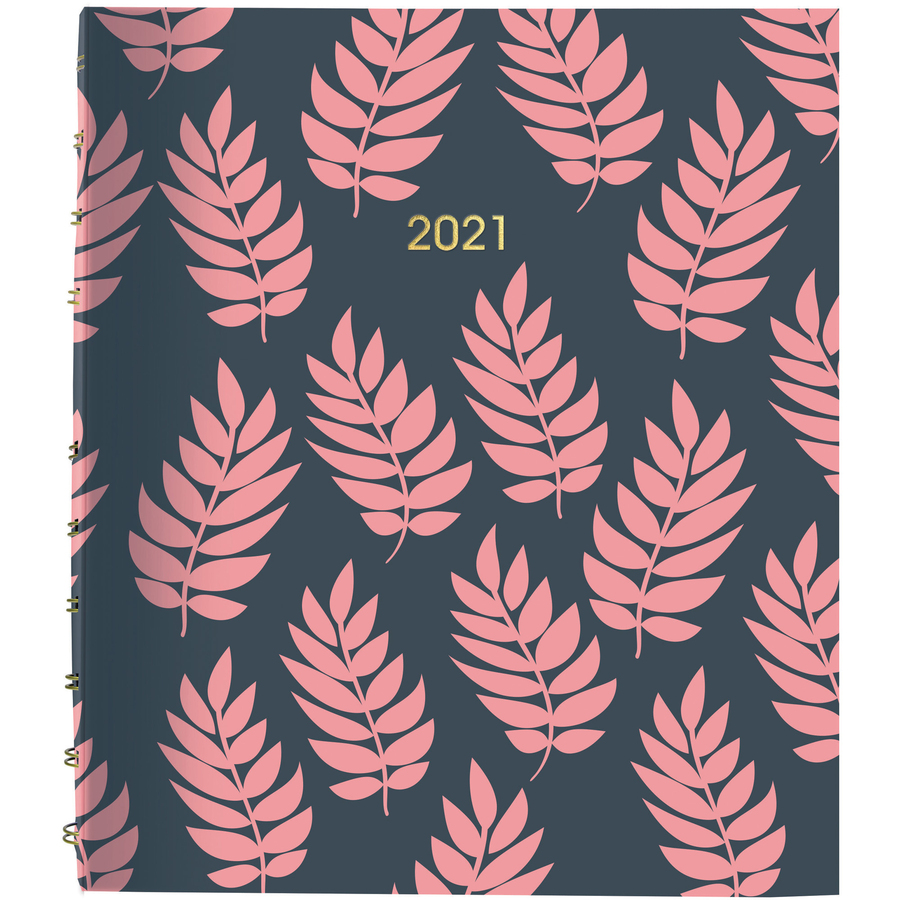 Rediform Coral Leaf Weekly/Monthly Planner - Academic/Professional - Monthly, Weekly - 1 Year - January till December - Twin Wire - Desk - 9.3