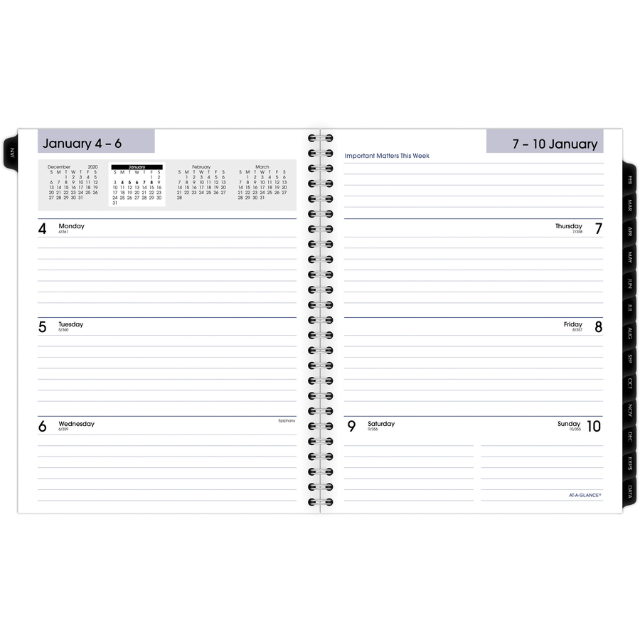 at a glance weeklymonthly planner refill aagg54550 alternate image1 alternate image2 original