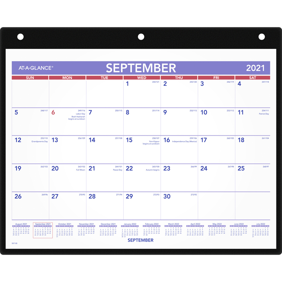 At-A-Glance 16-Month Dated Wall/Desk Calendar - AAGSK700 - Blue Cow ...