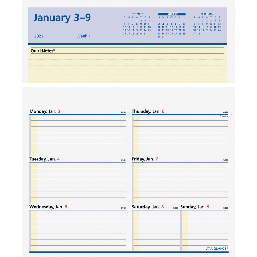 At A Glance Flip A Week Desk Calendar Refill