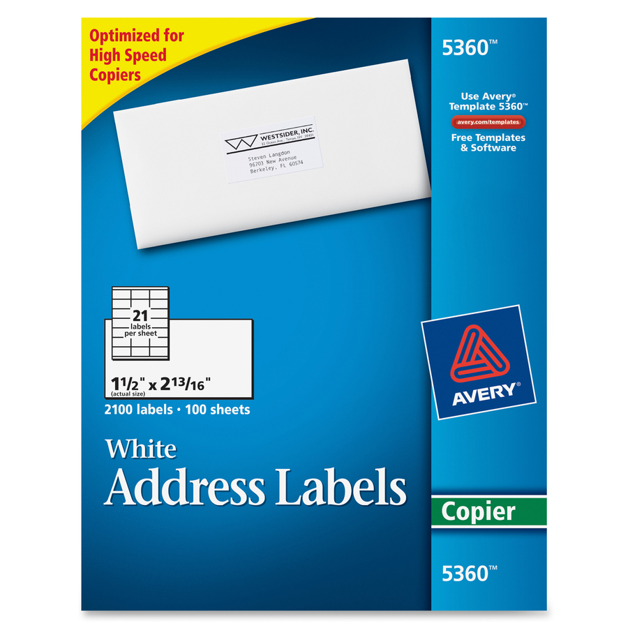 Discount Ave5360 Avery 5360 Avery Mailing Labels For Copiers