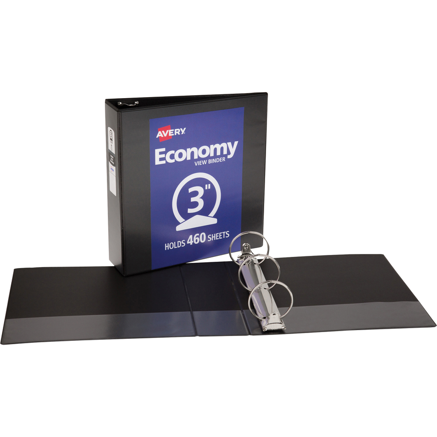 avery economy view binders with round rings without merchandising