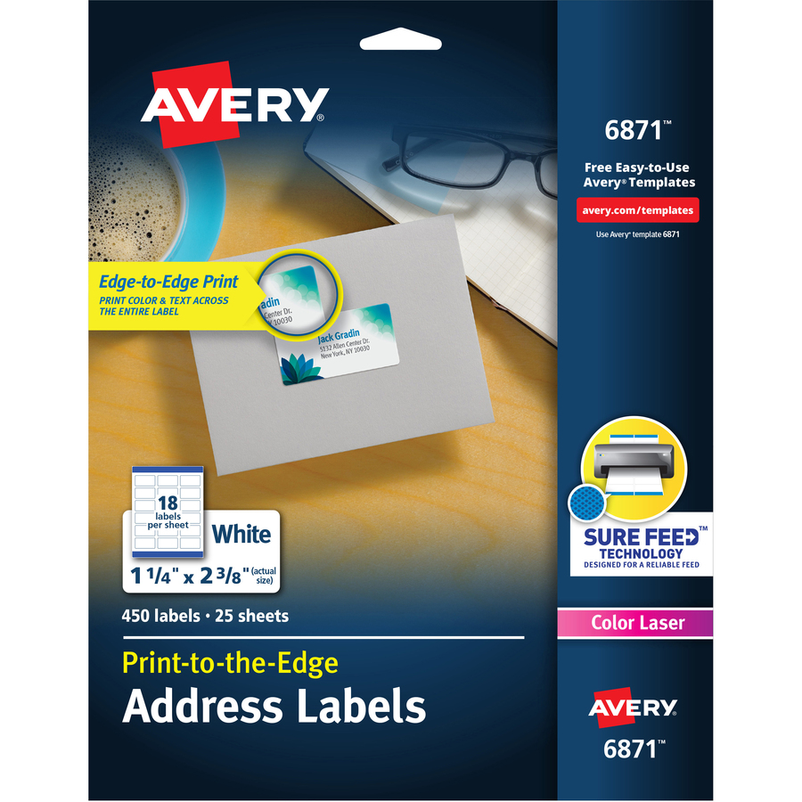 Avery White Print-to-the-Edge Address Labels