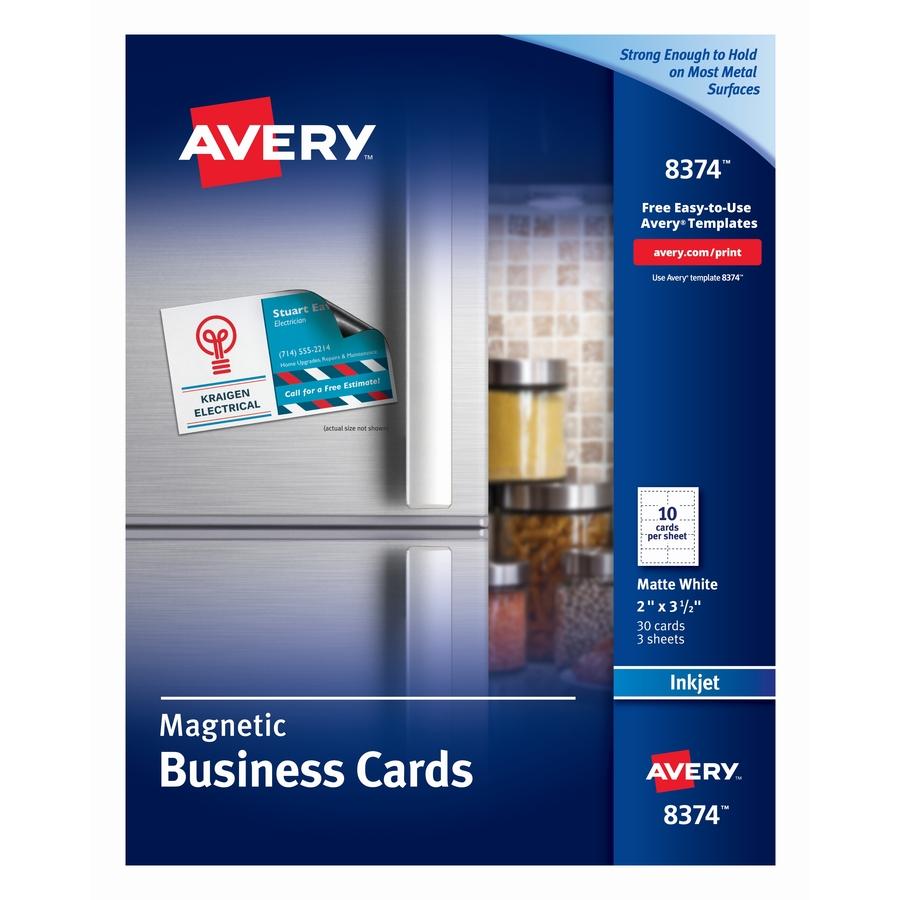 Avery Inkjet Printable Business Cards 2 X 3 12 Matte White 30